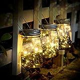 SUNNOW Luz Solar Jardín - Juego de 3 Lámparas Solares, 20 Luces LED de Hadas, Luces De Jardin Solares, Impermeable Interiores/Exteriores Decoración Lámpara Para Navidad Jardín de Patio y Césped