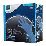 Shermond P2761AF/s sterili senza polvere guanti in nitrile, misura 8/Medium, blu (confezione da 100)