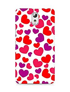 Amez designer printed 3d premium high quality back case cover for Lenovo Vibe P1M (Awesome Heart pattern)