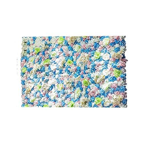 Preisvergleich Produktbild Blumenwand LVZAIXI Foto Hintergrund Geburtstag Hochzeit Kunstseiden Blume Wandpaneele Party Blumenvorhang Kinder Fotostudio (Color : E,  Size : 40x60cm)