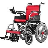 Elektrorollstuhl, leichter klappbarer intelligenter motorisierter Rollstuhl,leistungsstarker Doppelmotor-Rollstuhl,180 ° vollrolliger elektrischer Elektrorollstuhl für Behinderte und ältere Menschen
