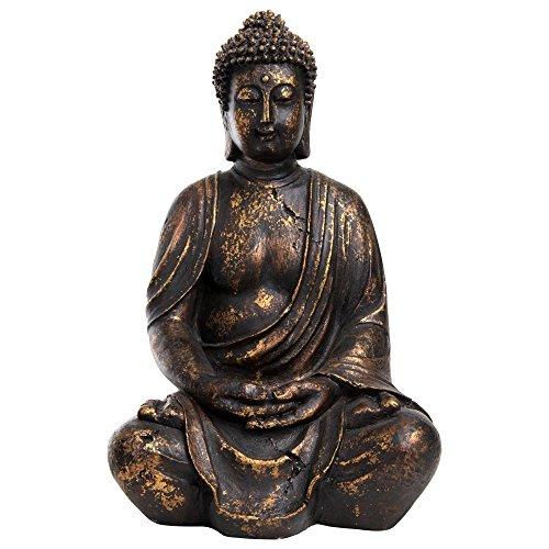 Decoración Figura de Buda Antiguo oro Efecto para casa, casa & Jardín (polirresina, 40cm de alto