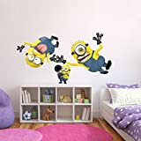 DECOR Kafe Home Decor Funny Minion Wall Sticker, Wall Sticker For Bedroom, Wall Art, Wall Poster Wall Sticker, Wall Sticker For Bedroom, Wall Art, Wall Poster (PVC Vinyl, 55 X 93 CM)