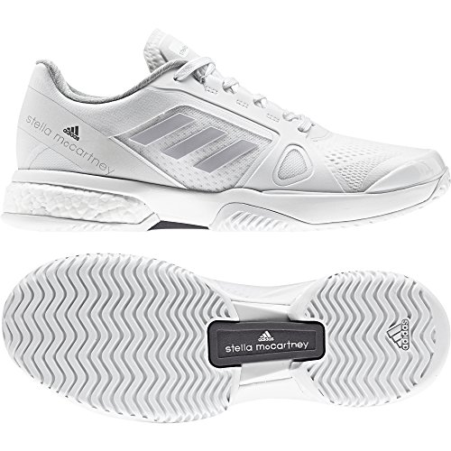 adidas Damen By Stella Mccartney Barricade Boost 2017 Tennisschuhe Weiß (Footwear White/lgh Solid Grey/night Steel-smc)