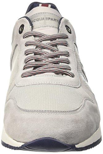 D'Acquasparta Cosimo, Sneakers basses homme Grigio (Perla Silver)