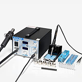 WEP-952D+ SMD ESD SAFE 2 IN 1 HOT AIR REWORK SOLDERING IRON STATION NEW UK