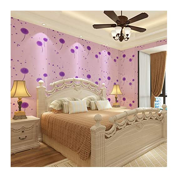 Luke and Lilly Self Adhesive Wallpaper/Wall Sticker with Water Proof Beautiful Flower Design (Paper; 45X 500 cm; Multicolour)