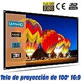 Tela de proyección Lux-Screen Formato 100' 16:9 (2,12cm x 1,28cm) Superficie de 3 Capas Blanco Mate...