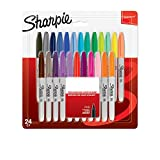 Sharpie 2065405 Lot de 24 Marqueurs permanent pointe double Couleurs Assorties