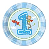 Erster Geburtstag Jungen Pappteller Groß 23cm