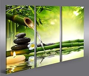 Impression sur toile wasser zen v3 3p image sur toile - Impression sur tissu maison ...