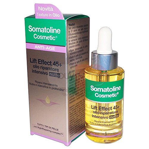 Somatoline Cosmetic Lift Effect 45+ Olio Riparatore Intensivo Notte 30ml