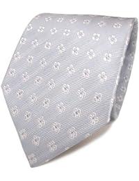 Mexx Seidenkrawatte blau hellblau weiss gemustert - Krawatte Seide Silk Tie