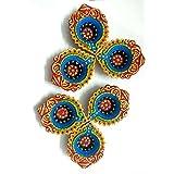 The Artisan World Clay Diya Set (Multi Colour_Pack Of 6) - B076H5535V