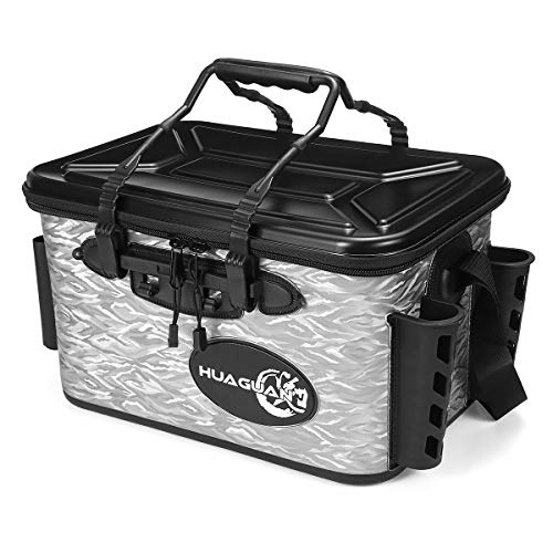 TuToy 28L Waterproof Fishing Live Bait Cooler Insulated Dry Box Foldable With Air Pump Shoulder Strap - schwarz -