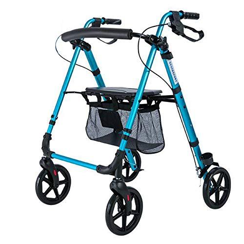 SXFYMWY Leichtgewichtige Faltmess-Mehrfunktion mit Walker-Höhe, die mit großen Kapazität-Shopping-Bags in den Rahmen der Walking-Landschaft passt
