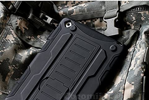 iPad Mini 3 / 2 / 1 Coque, Cocomii Robot Armor NEW [Heavy Duty] Premium Tactical Grip Kickstand Shockproof Hard Bumper Shell [Military Defender] Full Body Dual Layer Rugged Cover Case Étui Housse Apple (Black)
