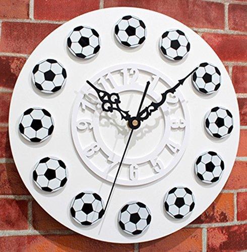 Unbekannt CivilWeaEU- Fußballuhren Uhren Fußball Clock Fashion Creative European (Farbe : Weiß)