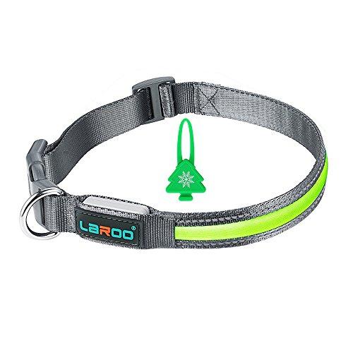 LED Hundehalsband Set, LaRoo Blinkende LED Hundehalsband und Kragen Blinker Glow Bright Sicherheitshalsband Set für Hunde (Halsband und Blinker Set)