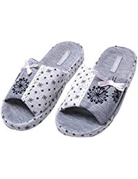 Verano del Bowknot del deslizador Hermosa casa zapatillas zapatillas zapatillas de interior antideslizante zapatillas para familia de WILLIAM&KATE