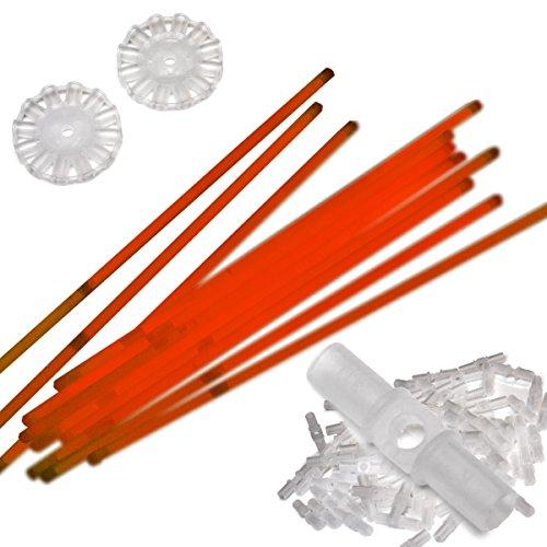 100 Knicklichter rot inkl. 100 x 3D-Verbinder, 2 x Kreisverbinder in Profiqualität
