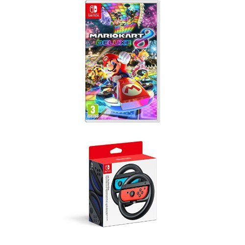pack mario kart 8 deluxe paire de volants joy con pour nintendo switch jeu switch meilleur. Black Bedroom Furniture Sets. Home Design Ideas