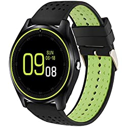 Rrimin V9 0.3M Camera Bluetooth Smart Watch Fitness Tracker SIM Phone Mate(Black)
