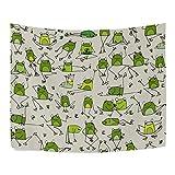 Funny rana patrón tipo Funny Estilo poliéster decoración del hogar tapices tapices de pared...