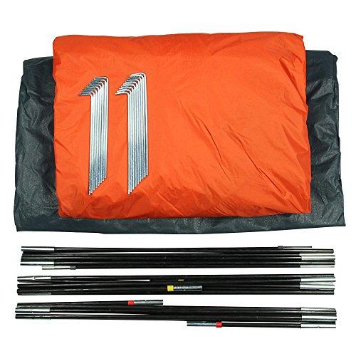10T Mandiga 3 Orange - Tunnelzelt für 3 Personen, Campingzelt mit großer Schlafkabine, wasserdichtes Familienzelt mit 5000mm, Zelt mit 2 Eingängen und 2 Fenstern, Festivalzelt mit Dauerbelüftung, 3 Mann Zelt mit Tragetasche, Zeltheringe und Zeltgestänge - 17