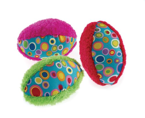 Classic Pet Products Spotty Rugby Ball, Grün