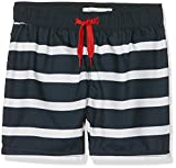 NAME IT Nmmzoxi Shorts Box, Costume da Bagno Bambino, Bianco (Bright White Stripes:Dark Sapphire W. Bright White Stripes), 10 (Taglia Produttore: 110)
