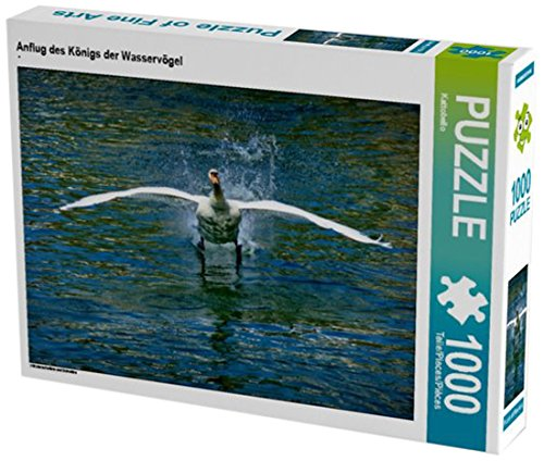 Anflug des Königs der Wasservögel 1000 Teile Puzzle quer: Höckerschwäne und Schwäne (CALVENDO Tiere)