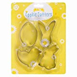 Stalwart G-24042 Easter Cookie Cutter (Pack of 4)