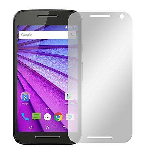 Slabo 4 x Displayschutzfolie für Motorola Moto G (3. Generation) Displayfolie Schutzfolie Folie Zubehör Crystal Clear KLAR - unsichtbar Made IN Germany