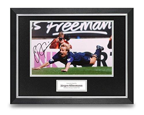 Jurgen-Klinsmann-Signed-16×12-Framed-Photo-Display-Spurs-Autograph-Memorabilia