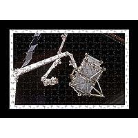 Stile Puzzle, Pre-assemblato da parete con stampa del robot-Iss-by Lisa