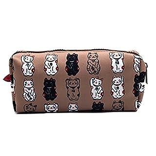 Lucky Japanese Cat Pencil Case Maneki Neko Cat Pencil Bag Pouch Case Makeup Cosmetic Bag