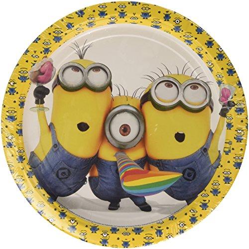 amscan-internacional-platos-de-papel-para-fiestas-razon-minions-23-cm