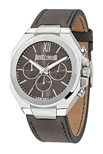 Just Cavalli Reloj para hombre cuero cuarzo analógico resistente r7251573002