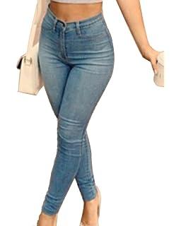 98686f447d79 ShiFan Femme Grande Taille Denim Pantalons Taille Haute Jeans Push Up  Leggings Casual Pants