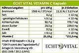 Natürliches – ECHT VITAL Vitamin C – 100 % Acerola-Fruchtpulver mit 420 mg pro Kapsel – 1 Glas mit 60 Kapseln - 5