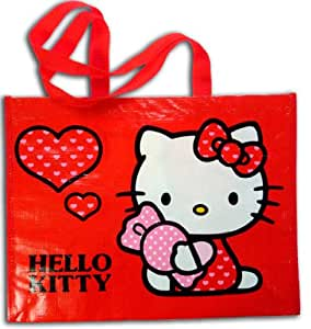 Hello Kitty Sac Shopping Cabas Bag Large Red Rouge