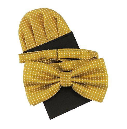 instecktuch-Karte für Herren, luxuriöser Stil für vornehme Hochzeiten, dezentes Punktmuster, erhältlich in über 20Farben Gr. onesize, gold ()