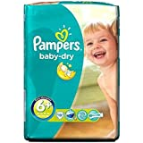 Pampers Baby Dry Taille 6 + Carry Paquet De Couches - 19 Langes - Lot De 2