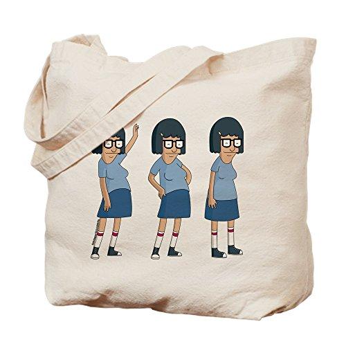 CafePress-Bob 's Burger Tina Dance-Leinwand Natur Tasche, Reinigungstuch Einkaufstasche, canvas, khaki, M (Bobs Von Tina Burgers)