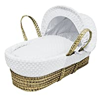 Kinder Valley Palm Moses Basket, White Dimple