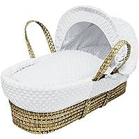 Hoyos, color blanco Moses cesta cesta de apósitos sólo ...
