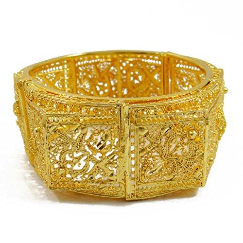 IBA Indianbeautifulart Gold 18K überzieht indische Armreif Traditioneller Braut Kada 2 * 8-Geschenk für sie