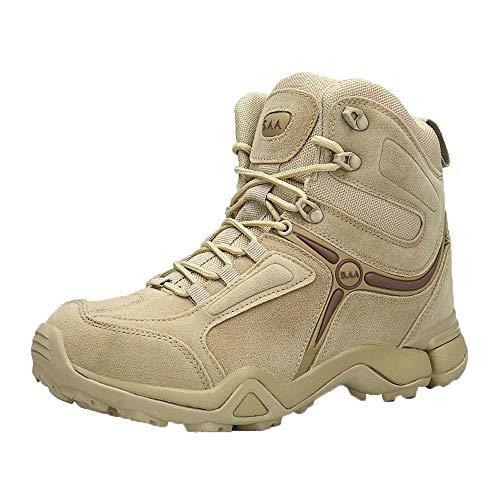 Geilisungren Herren Militärstiefel Sicherheitsstiefel Outdoor Armee Combat Tactical Boots Verschleißfest Rutschfest High-Top Sneakers Übergrößen Arbeit Schnürschuh Einsatzstiefel (Combat Boot Größentabelle)
