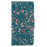 Nancen Huawei P9 Lite/P9 Mini (5,2 Zoll) Handy Lederh�lle, Flip Case Wallet Cover with Stand Function, Folio Bookstyle Handytasche Soft Silikon Bunte Muster Tasche PU Leder Slim Shell Handyh�lle. Bild